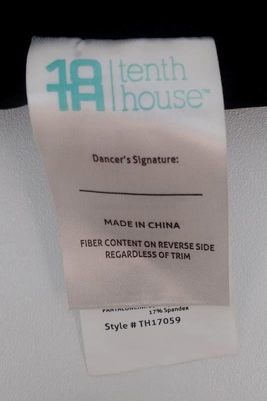 Tenth House Black Sequin Ballet Dance Shorts Trunks Size MA Medium Adult