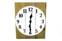 "Rustic Handmade Recycled Wood Rectangular Clock 24"" x 19.75"" As-Is"