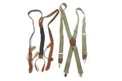 2 Pair Of Men's Suspenders One With Clips, One For Buttons