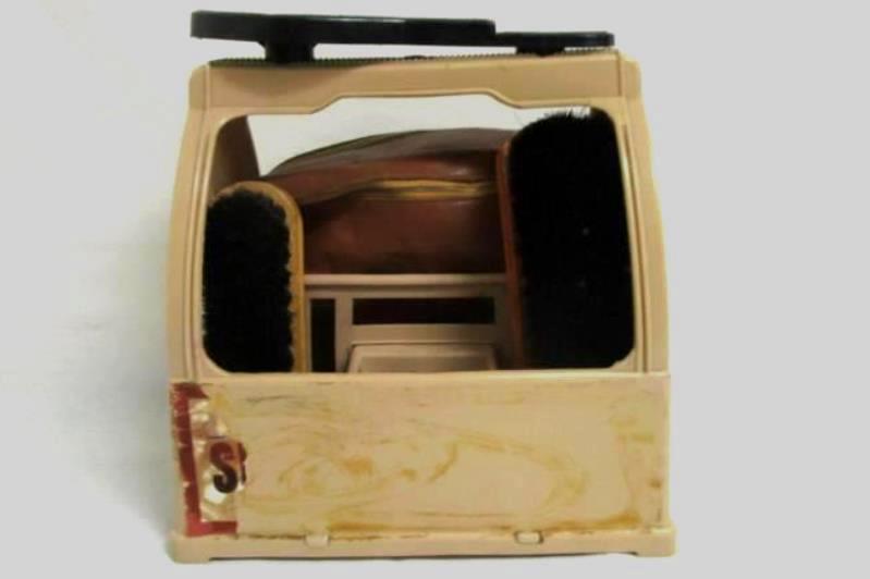 Vintage Lot Shoe Butler Polish And Brush Kit And Holder Idealware