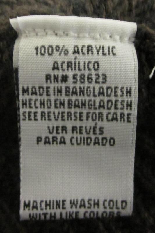 Women's Sweater Effeci Creazioni Black/Coffee Brown 100% Acrylic Size Small