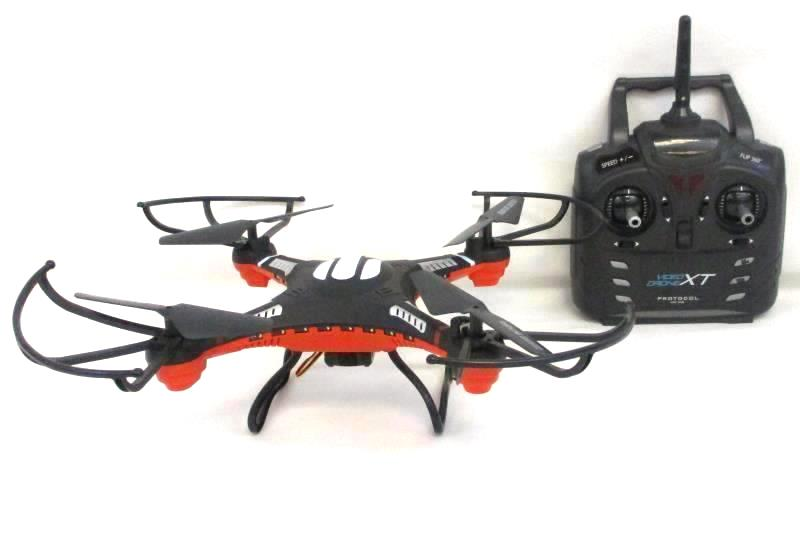Protocol VideoDrone XT RC Quadcopter  w/ Controller Black Orange White