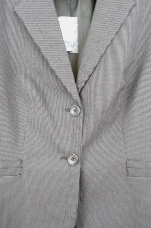 The Limited Women's Brown Pin Striped Two Button Front Blazer Career Size 12