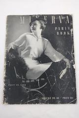 1935 Minerva Paris Book Volume #40 Paris Fashions, Minerva Yarns Patterns