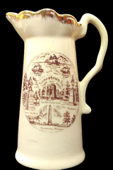 Vintage Jamestown Creamer Souvenir Cream Colored w/ Gold Trim