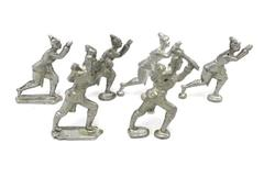 Vintage Lot Of 6 British Metal Pewter Toy Soldiers