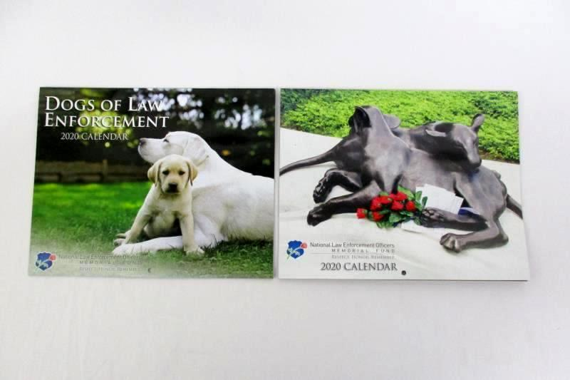 2 National Law Enforcement Officers Memorial Fund 2020 Calendars And Puzzle Book