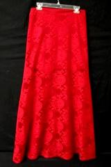 Long Skirt Savannah Rae Red Layered Lace 100% Polyester Women's Size Large