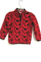 Crazy 8 Boy's Half Zip Pullover Sweatshirt Jacket Red Black Skull Size S (5-6)