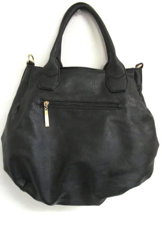 Louis Cardy Large Tote Handbag Removable Shoulder Straps Black