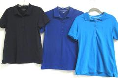 Lot Of Three Women Laura Scott Shirts Blue Dark Blue Black Cotton Blend Size Sm.