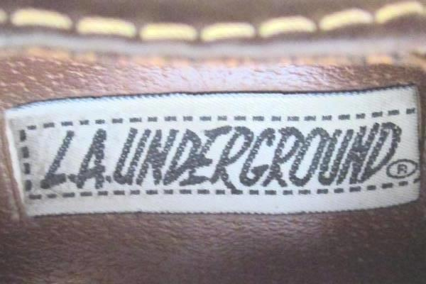 Women's L.A.Underground Brown Chunky Heel Shoe Size 7 Buckle