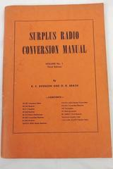 "Vintage 1948 ""Surplus Radio Conversion Manual"" Vol 1, 3rd Ed, By Evenson/Beach"