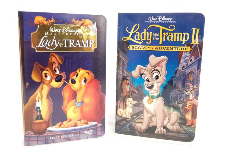 Lady and the Tramp I Scamp's Adventure II Disney Masterpiece VHS