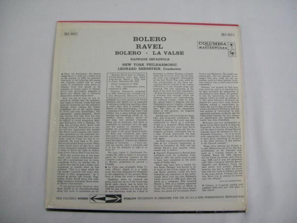 Bolero Leonard Bernstein New York Philharmonic Vinyl Record