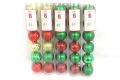 Lot of 30 Assorted Christmas Tree Ball Ornaments Shatterproof Red Green Gold