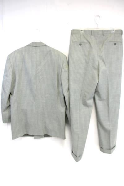 Elegance Enrico Coveri Suit Super 120's Wool Italy Gray Jacket Pants Men's 42L
