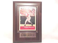 LA Angels #27 Vladimir Guerrero Fleer 2004 MVP Baseball Card & Display Plaque