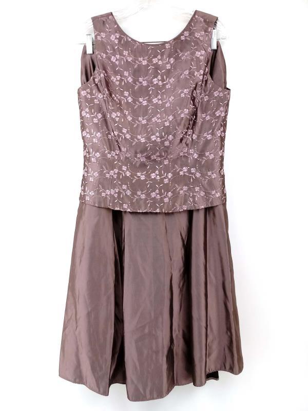 Scott McClintock Purple 2pc Dress Set Skirt Top Mauve MOTB Formal Prom Size 12