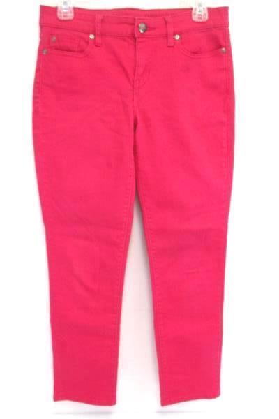 Gap Premium Jeans Skinny Ankle Colored Denim Pink Women's Size 2/26