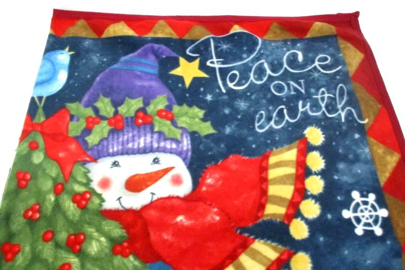 Peace On Earth Snowman Fleece Blanket By Tricia Santry Books Are Fun