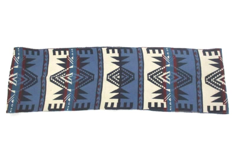 Wallflower Perfect Pair Southwestern Aztec Acrylic Infinity Scarf Blue White