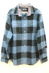 NWT- Men's Canterbury of New Zealand Blue & Black Plaid Button-up Shirt Sz XL