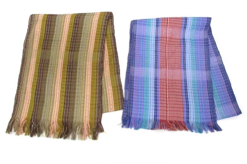 Two El Gran Condor Algodon (Cotton) Women's Scarves From Ecuador