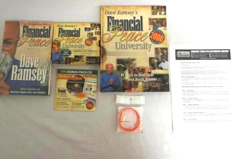 2006 Financial Peace University By Dave Ramsey- CD's And Books