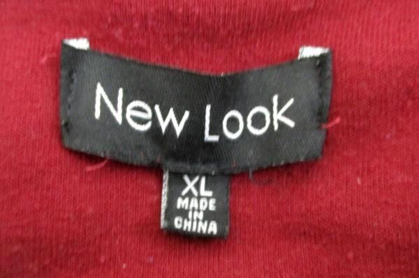 New Look Snap Button Sweatshirt Jacket Maroon Hooded Youth Boys XL