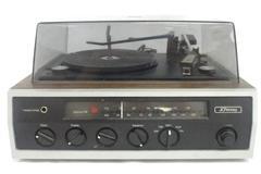 JC Penny Record Player Model 1316 Walnut Case-Needs New Needle