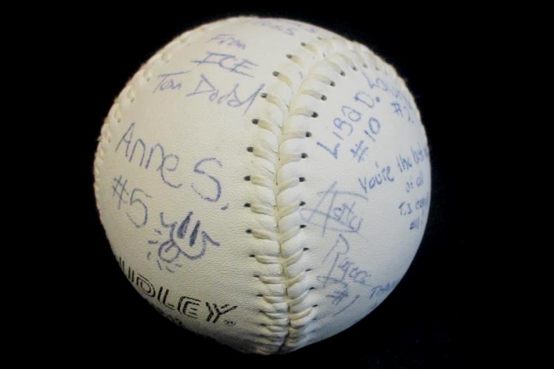 Vintage Signed Dudley Softball Division Champions Mini Minors 1994
