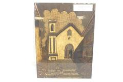 Vintage Painting Beeswax & Plant Resin Art Street Scene Edison Nieto Unframed
