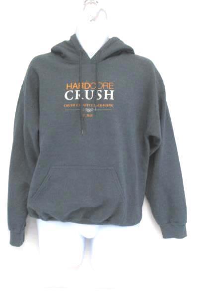 Hardcore Crush Sweatshirt Oregon #WeDontBowWeCRUSH Gray Kangaroo Pouch M