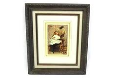 """C. Burton Barber Print A RIVAL ATTRACTION Framed And Matted 13.75"""" X 11.75"""""""