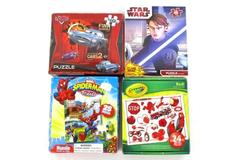 Four 24 & 48 Piece Children's Puzzles Cars Spiderman Star Wars Crayola Red!