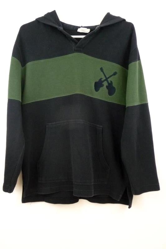 Lot 2 Boys Crazy 8 Pull Over Sweatshirts Size XL 14 Navy Blue Ribbed Guitar