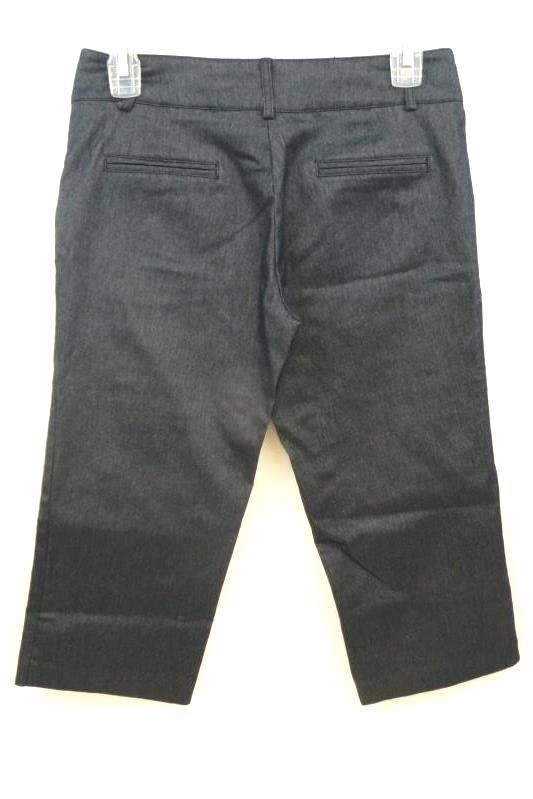 Catch My I Women Junior's Dark Blue Denim Dress Pants Capris Size 5 Cropped
