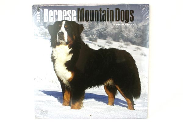 2014 Bernese Mountain Dogs 18-Month Calendar BrownTrout Publishers Inc SEALED