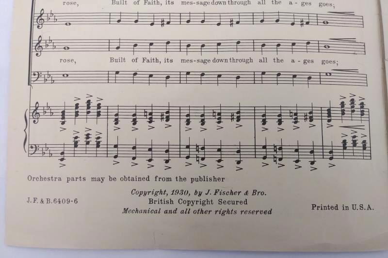 Rare 1930 The Bells of Notre Dame by Gustav Klemm Chorus Arrangements