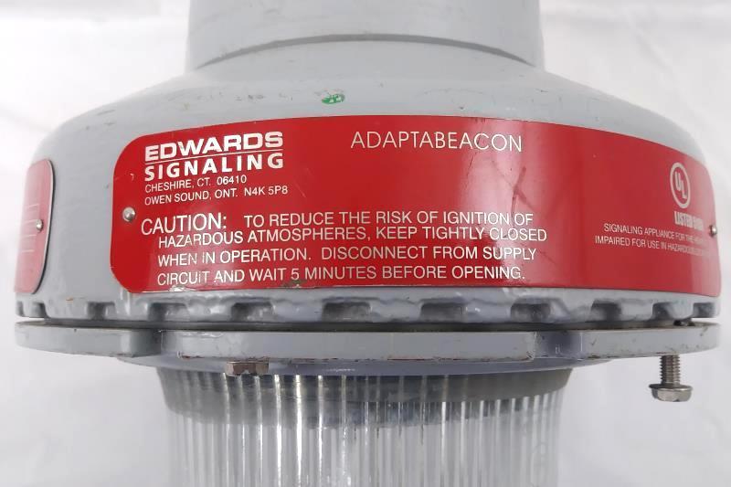 Edwards Adaptabeacon Emergency Strobe Explosion Proof Clear Lens 106DEXPSTC-FJ