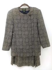 Vtg 80s ALCOTT & ANDREWS 2pc Suit Blazer Jacket + Pleated Skirt 100% Silk 10/12