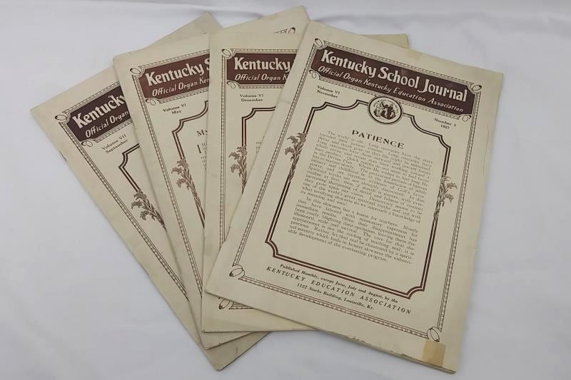 Lot of 4 Antique Kentucky School Journals, Kentucky Education Association 1927-8