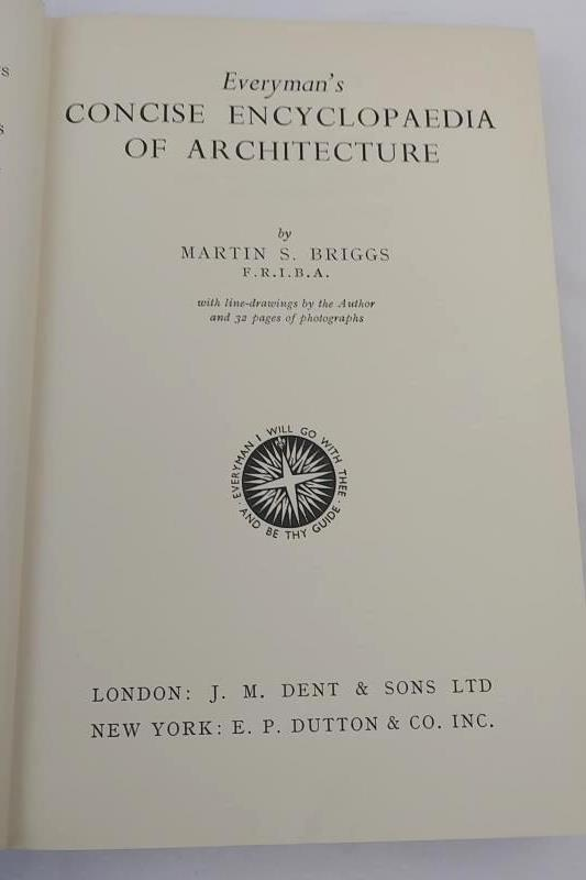 VTG Hardcover, Everyman's Concise Encyclopaedia of Architecture, MS Briggs, 1959