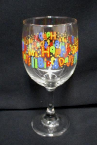 Birthday Lot Wine Glass Shot Glass 4 Beaded Necklaces Streamers Balloons