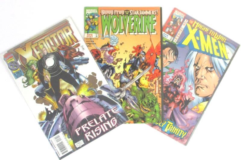 Lot of 3 Vtg Marvel Comics: Uncanny X-Men #367, X-Factor #117, Wolverine #137