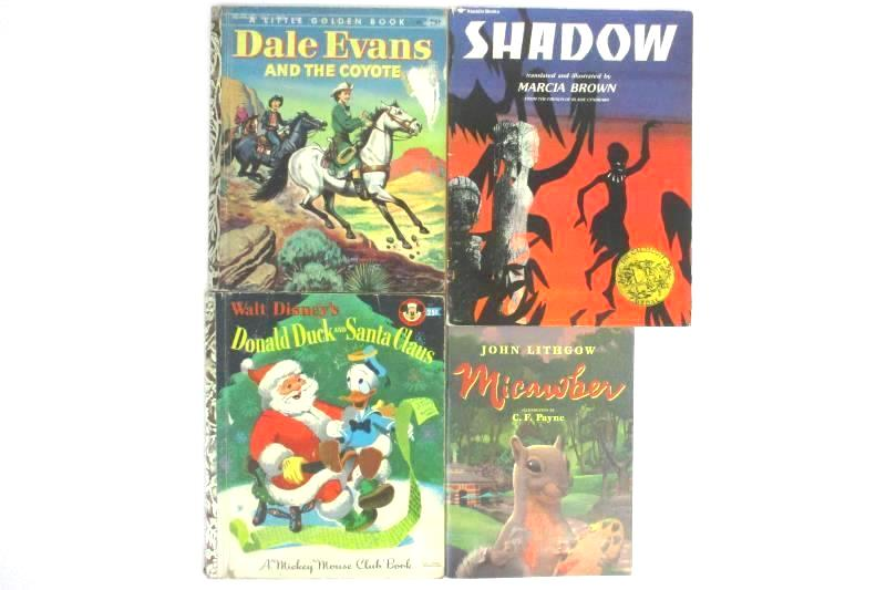 Lot of 4 Vintage Books - Shadow, Micawber, Donald Duck, Dale Evans & The Coyote