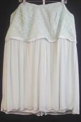 NWT Women's DAVID'S BRIDAL Mint Short Strapless Lace Bridesmaid's Dress Size 26