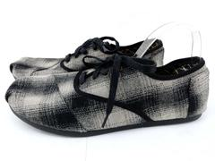 TOM'S One for One Cardones Gray / Black Plaid Lace Up Oxford Wool Men's Sz 12