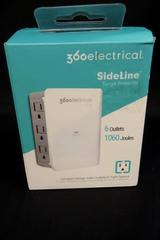 New In Box- 360 Electrical 360352 6- Surge Protected Outlets Adapter Add Outlets